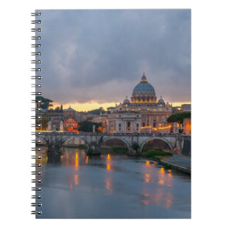 St. Angelo Bridge, St. Peter's Basilica, Rome Spiral Note Books