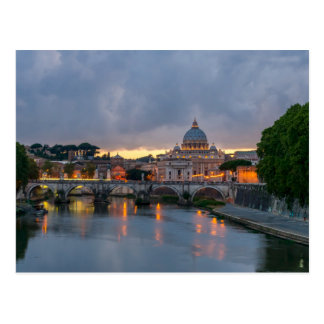 St. Angelo Bridge, St. Peter's Basilica, Rome Postcard