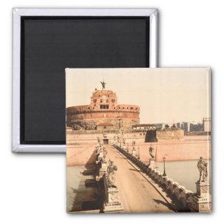 St Angelo Castle and Bridge, Rome, Lazio Italy Magnet