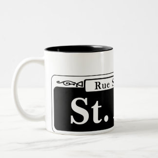 St. Ann St., New Orleans Street Sign Two-Tone Coffee Mug