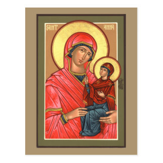 St. Anna Prayer Card Postcard
