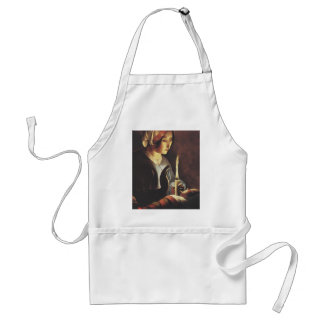 St. Anna with Baby Jesus by the old Masters of art Adult Apron