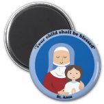 St. Anne 2 Inch Round Magnet