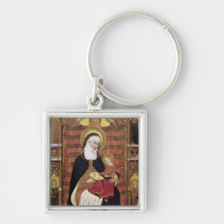 St. Anne and the Virgin Silver-Colored Square Keychain