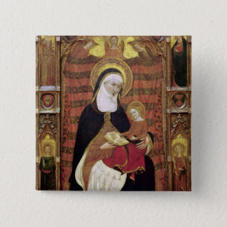 St. Anne and the Virgin Pinback Button