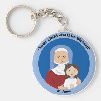 St. Anne Basic Round Button Keychain