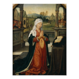 St.Anne Conceiving the Virgin Poster