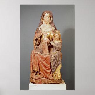 St Anne la Virgen y niño Posters