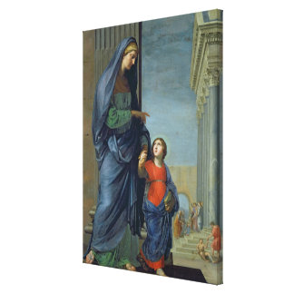 St. Anne Leading the Virgin to the Temple Canvas Print