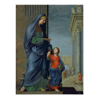 St. Anne Leading the Virgin to the Temple Poster
