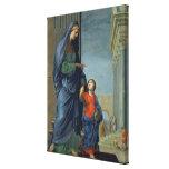 St Anne que lleva a la Virgen al templo Lienzo Envuelto Para Galerias