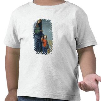 St Anne que lleva a la Virgen al templo Camiseta