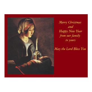St. Anne with the Christ Child by La Tour Postcard