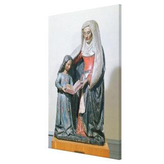 St Anne y la Virgen, 1500-30 Impresión En Lona Estirada