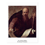 St. Anthony Abbas By Jacopo Pontormo Post Card