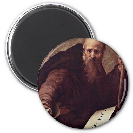 St. Anthony Abbas By Pontormo Jacopo Refrigerator Magnets