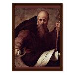St. Anthony Abbas By Pontormo Jacopo Postcard