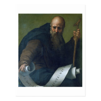 St. Anthony Abbot (c.251-356) c.1518-19 (oil on ca Postcard