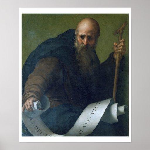 St. Anthony Abbot (c.251-356) c.1518-19 (oil on ca Poster
