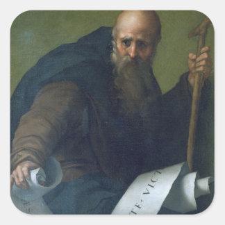 St. Anthony Abbot (c.251-356) c.1518-19 (oil on ca Square Sticker