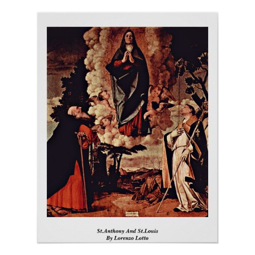 St.Anthony And St.Louis By Lorenzo Lotto Posters