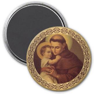 St Anthony con el niño Jesús de Cristo Imán Redondo 7 Cm