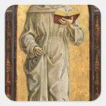 St Anthony de la lectura de Padua Pegatina Cuadrada