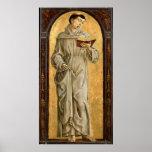 St Anthony de la lectura de Padua Posters