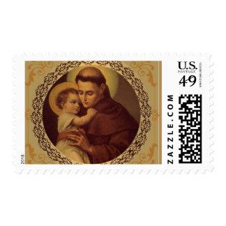 St Anthony de Padua con el bebé Jesús Sello