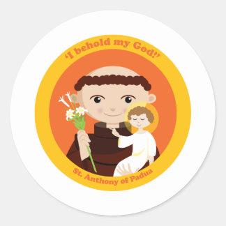 St Anthony de Padua Pegatina Redonda