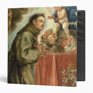 St Anthony de Padua que adora al niño de Cristo