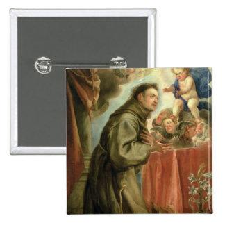 St Anthony de Padua que adora al niño de Cristo Pin Cuadrado