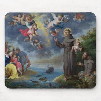 St Anthony de Padua que predica a los pescados Mouse Pads