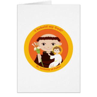 St Anthony de Padua Tarjeta De Felicitación