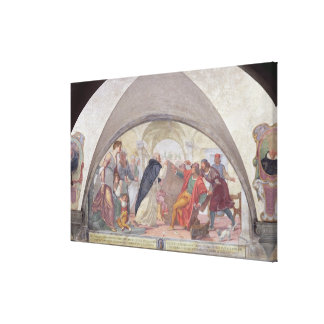 St. Anthony Driving Out the Gamblers (fresco) Canvas Print