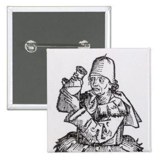 St. Anthony  from 'Liber Chronicarum' Pinback Button