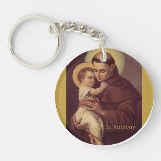 ST. ANTHONY HOLDING CHILD JESUS KEYCHAIN