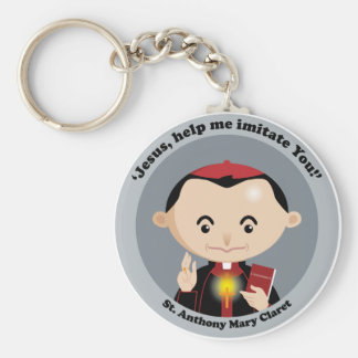 St. Anthony Mary Claret Basic Round Button Keychain