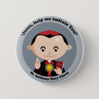 St. Anthony Mary Claret Pinback Button