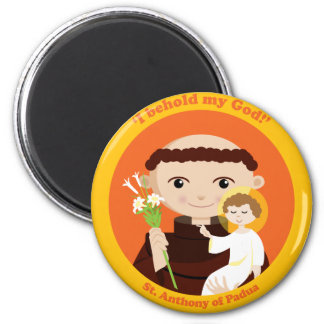 St. Anthony of Padua 2 Inch Round Magnet