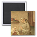 St Anthony of Padua 2 Inch Square Magnet