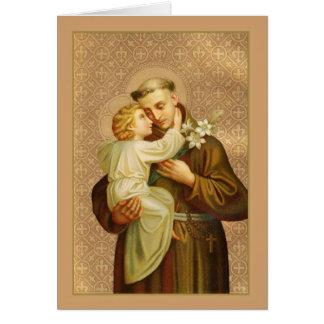 St. Anthony of Padua Baby Jesus Card
