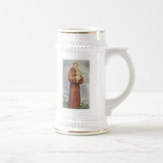 St. Anthony of Padua Beer Stein Mug