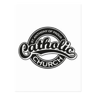 St. Anthony of Padua Catholic Church Black Postcard