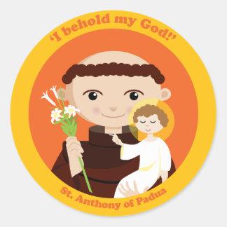 St. Anthony of Padua Classic Round Sticker