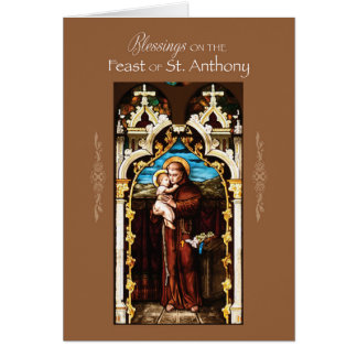St. Anthony of Padua Feast Day Blessings Card