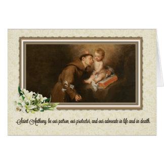 St. Anthony of Padua Greeting Card w/prayer