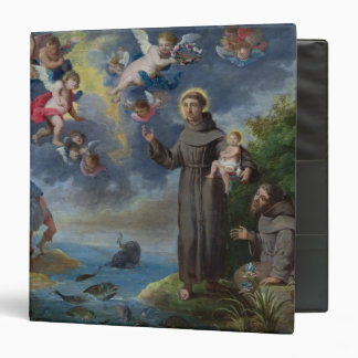 St. Anthony of Padua Preaching to the Fish 3 Ring Binder