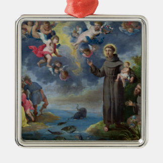 St. Anthony of Padua Preaching to the Fish Metal Ornament