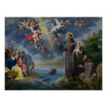 St. Anthony of Padua Preaching to the Fish Print